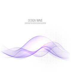 Blue smooth abstract border wave soft background vector