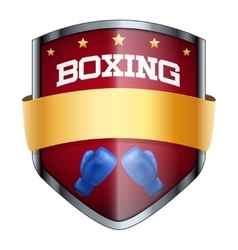 Boxing Shield badge vector