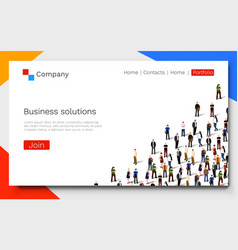 Business solutions teamwork and success concept vector