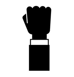 businessman fist up icon simple style vector image