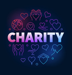 charity and donation colorful circular line vector image