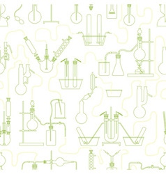 chemistry seamless texture green vector image