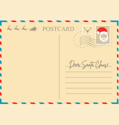 Christmas letter to santa claus vector