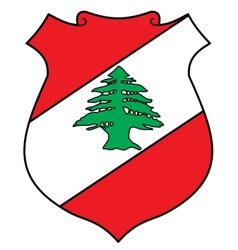 coat of arms of Lebanon vector image vector image