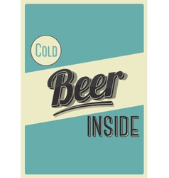 Cold beer inside vector