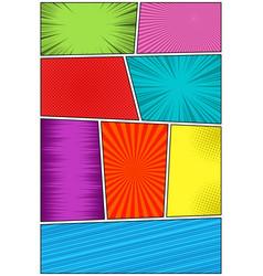 Comic book vertical template vector