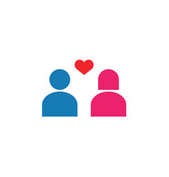 couple icon design template isolated vector image