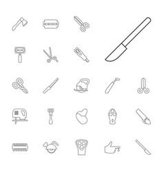 Cut icons vector