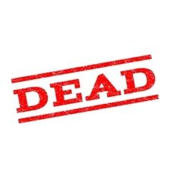 Dead watermark stamp vector