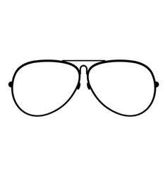 Eyewear icon simple style vector
