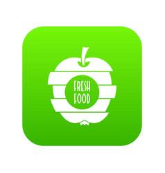 fresh food icon green vector image