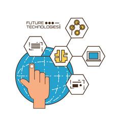 Future technologies design vector
