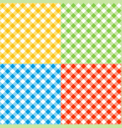 Gingham seamless pattern vector
