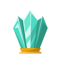 Glassy award trophy of crystal shape vector