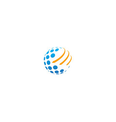 Globe arrow orbit technology logo vector