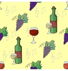 Grapes wine seamless pattern vector image