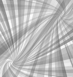 Grey twisted ray pattern background vector