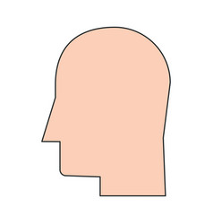 human head profile icon image vector image