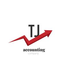 initial letter tj creative finance - money vector image