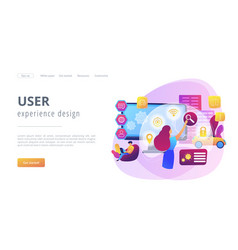 Intelligent interface concept landing page vector