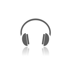 isolated headphones icon on a white background vector image