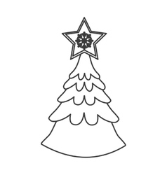 Isolated pine tree of Christmas season design vector image