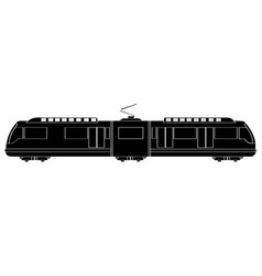 Isolated train silhouette vector