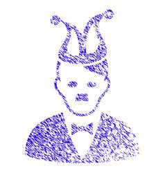 Joker hitler icon grunge watermark vector