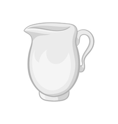 Jug of milk icon cartoon style vector image