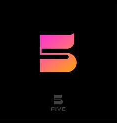 logo 5 number sport emblem network web ui icon vector image