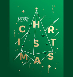 Merry christmas abstract minimalist vector