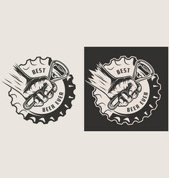 monochrome brewery vintage print vector image