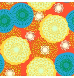 Multicolor floral pattern in bright colors vector image