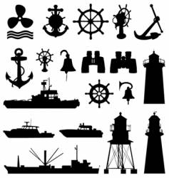 nautical elements vector image