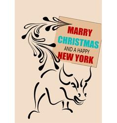 new york christmas vector image vector image