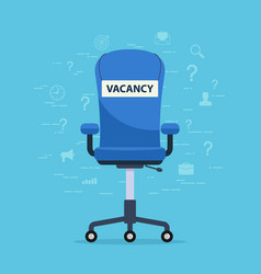 office chair with a vacant seat concept finding vector image