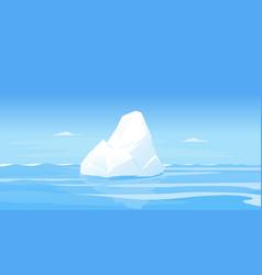 one beautiful iceberg in sea vector image
