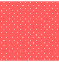 Orange Pink Red Star Polka Dots Background vector