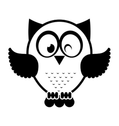 owl bird cute icon vector image
