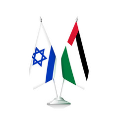 Palestine and israel flags vector