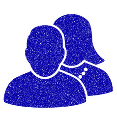 People icon grunge watermark vector