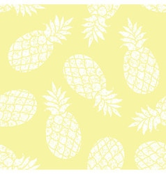 Pineapple seamless pattern for textile vector image vector image