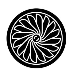 Plane turbine glyph icon vector