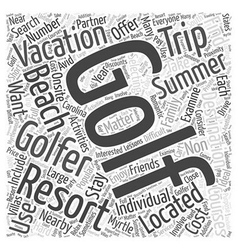 Popular Summer Vacation Destinations for Golfers vector