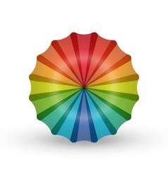 Rainbow umbrella flower balloon logo icon vector image