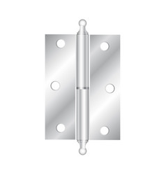 realistic hinges stainless steel icon vector image