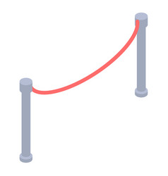 Red barrier icon isometric style vector
