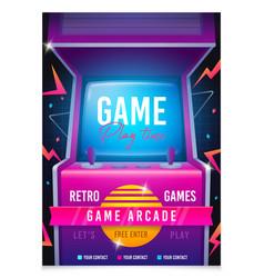 retro gaming game 80s-90s arcade machine vector image