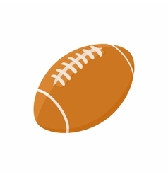 Rugby ball icon in cartoon style vector image