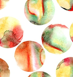 seamless pattern watercolor circles vector image